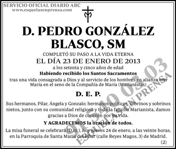 Pedro González Blasco, SM
